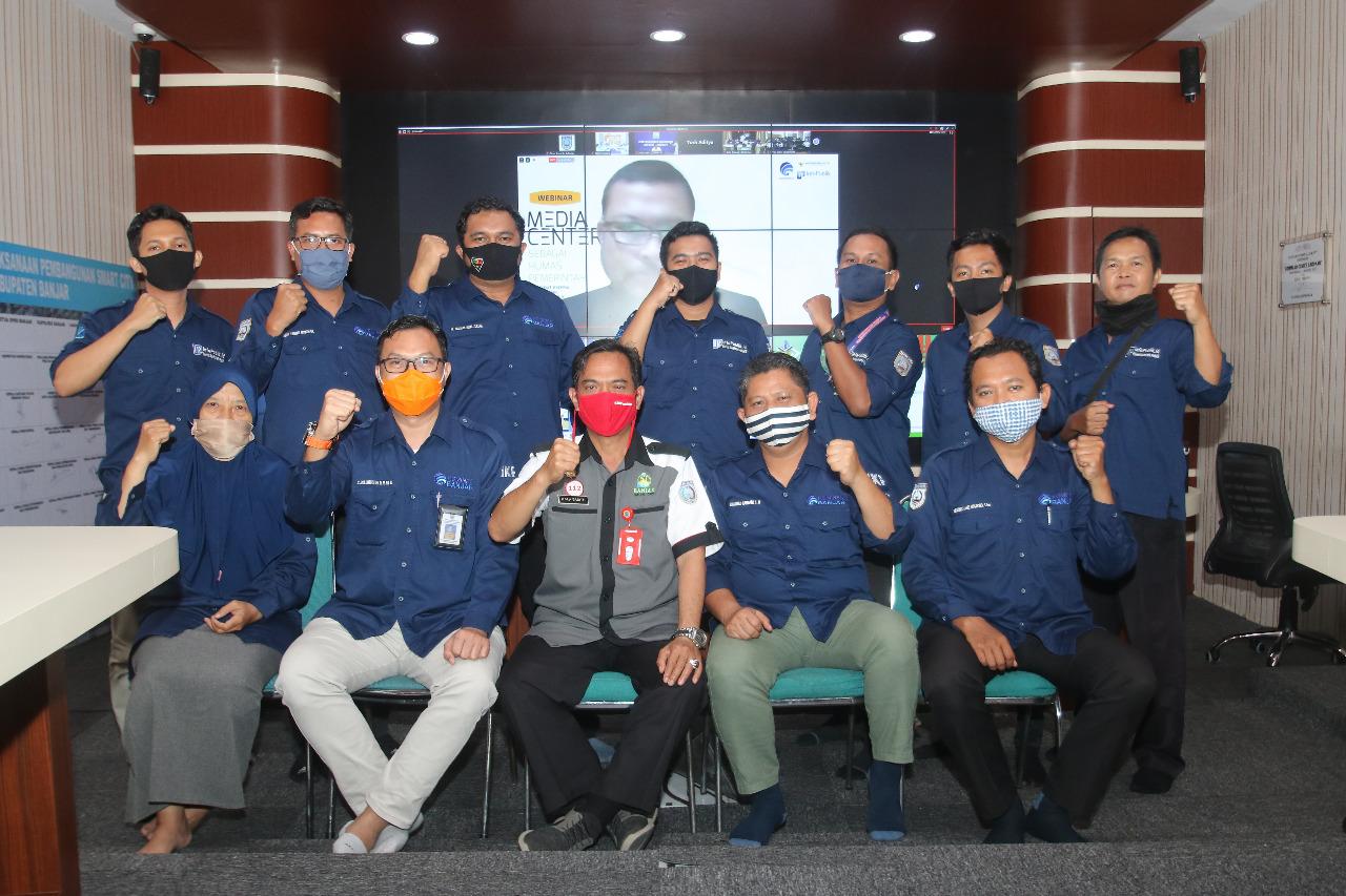 DARI 250 LEBIH DAERAH SE INDONESIA, MEDIA CENTER KABUPATEN BANJAR TERBAIK